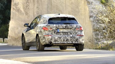 2019 BMW 1 Series pre-production rear driving