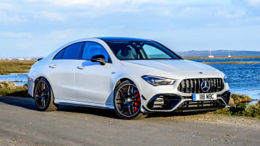 Mercedes-AMG CLA 45 saloon front 3/4 static