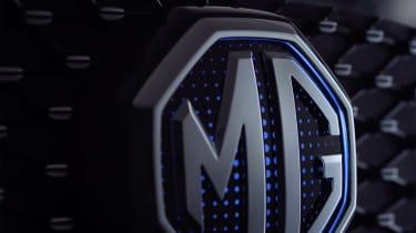 MG ZS EV backlit badge