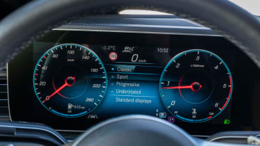 Mercedes GLE Coupe SUV digital instruments