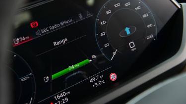 Audi e-tron GT saloon review digital dials
