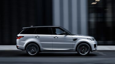 Range Rover Sport HST special edition side view driving city