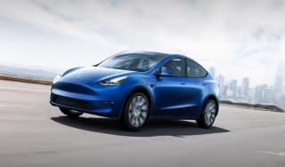 Tesla Model Y driving