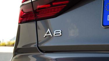 The A8 range also incorporates a long-wheelbase A8 L model, and will soon boast a plug-in hybrid e tron