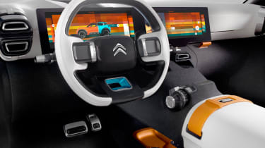The concept's interior looks great, but the production car will likely follow the C4 Cactus' minimalist style