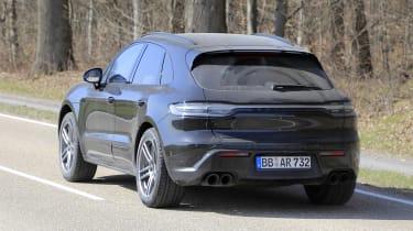 2021 Porsche Macan SUV rear 3/4 dynamic