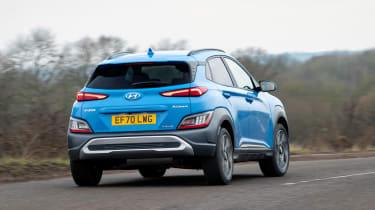 Hyundai Kona Electric rear cornering
