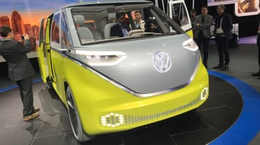The Volkswagen I.D.Buzz was unveiled at the 2017 Detroit Motor Show