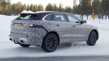 Jaguar F-Pace facelift prototype - rear side view