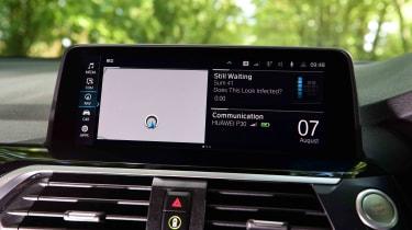 BMW X3 SUV infotainment display