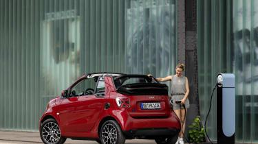 Smart EQ ForTwo Cabrio charging