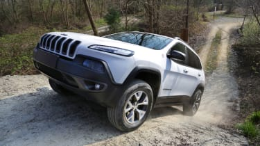 The Cherokee lives up to Jeep's heritage, with the Land Rover Discovery Sport the only big rival off-road.