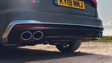 Audi S4 Avant estate exhaust tailpipes