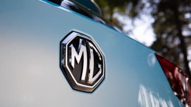 MG ZS EV SUV boot badge
