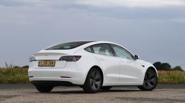 Tesla Model 3 - rear 3/4 view static
