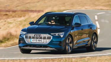 Audi e-tron SUV front cornering