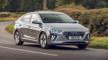 Hyundai Ioniq Hybrid review front 3/4 cornering