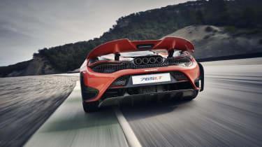 McLaren 765LT - rear view dynamic on track