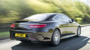 Mercedes S Class coupe - rear dynamic