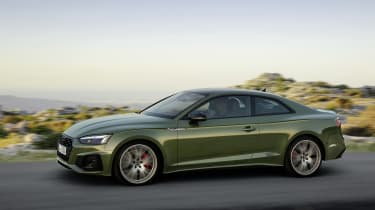 Audi A5 driving left side