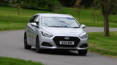 The i40 Tourer is a large and practical estate that rivals cars like the Ford Mondeo and Vauxhall Insignia