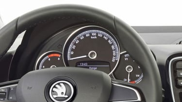 ...with a choice of two revised instrument clusters...