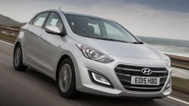 The Hyundai i30 is the least expensive car on our list but it's still a very competent family car.