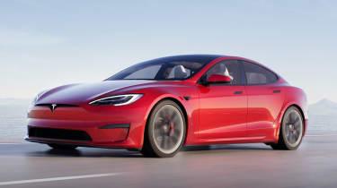 Tesla Model S Plaid - front 3/4