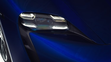 2020 Porsche Taycan - front headlight close up