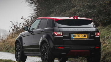 Three 2.0-litre engines are available for the Evoque, with the 150bhp and 180bhp diesel engines most popular