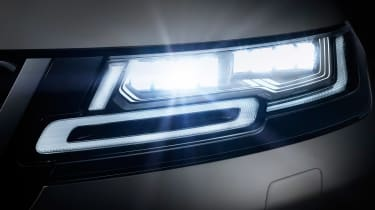 New Range Rover Evoque 2019 reveal lights