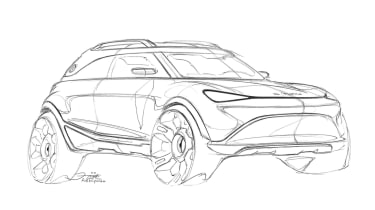 2023 Smart SUV - front 3/4 sketch, right