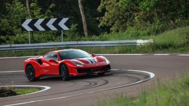 Ferrari 488 Pista on road