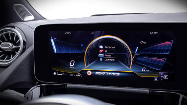 Mercedes-AMG GLA 35 digital instrument cluster