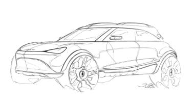 2023 Smart SUV - front 3/4 sketch, left
