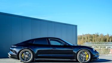 Porsche Taycan saloon side static