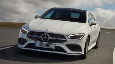 Mercedes CLA saloon nose cornering