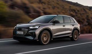 2021 Audi Q4 e-tron SUV - front 3/4 dynamic