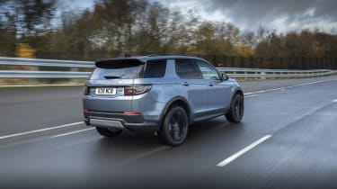 Land Rover Discovery Sport PHEV driving - rear view
