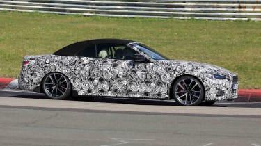 BMW 4 Series Convertible testing at the Nurburgring - side view