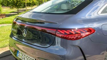 Mercedes EQS hatchback rear lights