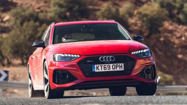 Audi RS4 Avant estate front cornering