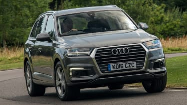 The Audi Q7 e-tron is a plug-in hybrid SUV that goes up against similar rivals from BMW and Volvo
