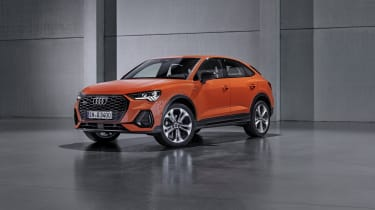 2019 Audi Q3 Sportback - front 3/4 static orange