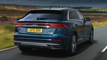 Audi Q8 S line - rear 3/4 driving