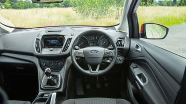 The C-MAX dashboard has much in common with other Ford interiors