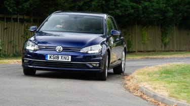 Volkswagen Golf hatchback front cornering