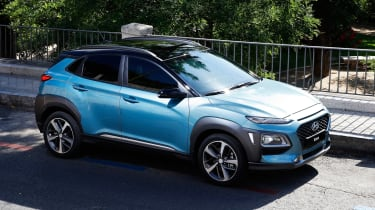 Its styling appears to be influenced by the Hyundai Intrado concept