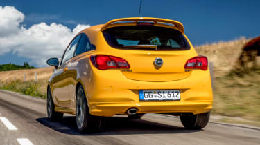 Vauxhall Corsa GSi rear tracking