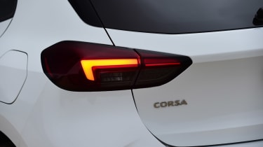Vauxhall Corsa hatchback rear lights